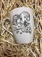 Подарочная керамическая чашка