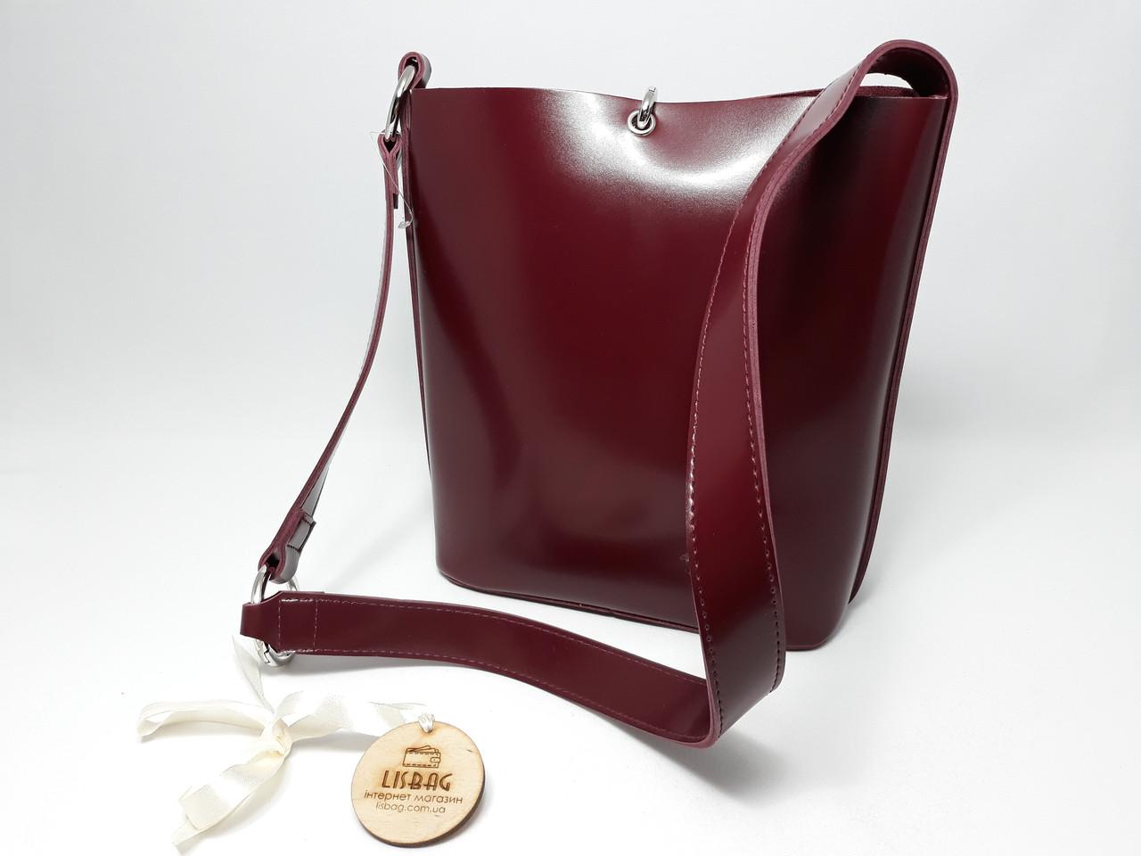 bd51f49ce963 Бордовая Женская вместительная сумка мешок на плечо новинка, гладкая на  ощупь , цена 501 грн., купить в Умани — Prom.ua (ID#663833442)