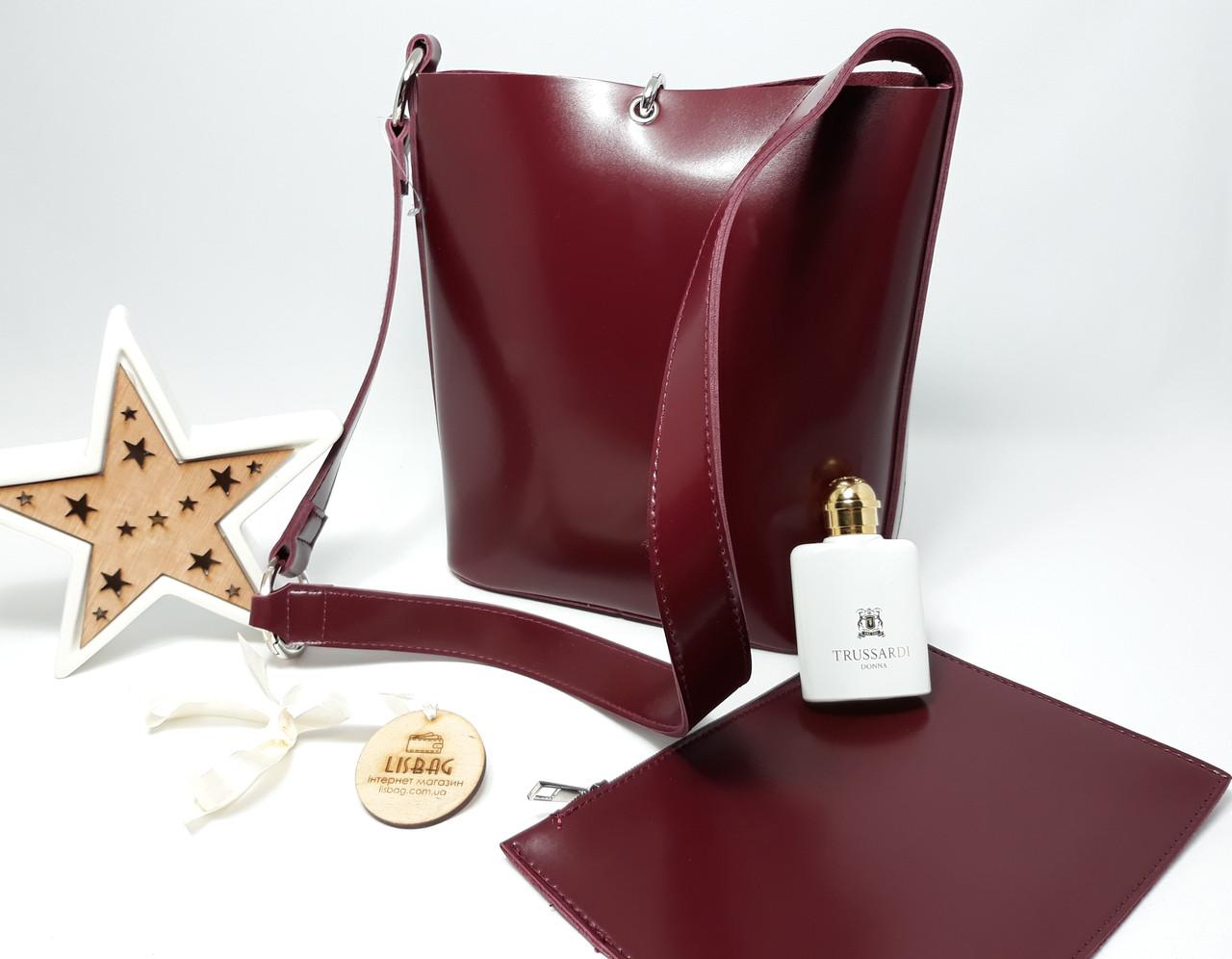 9cbccfbb3f2a Бордовая Женская вместительная сумка мешок на плечо новинка, гладкая на  ощупь