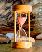 Песочные часы на 15 минут с розовым песком