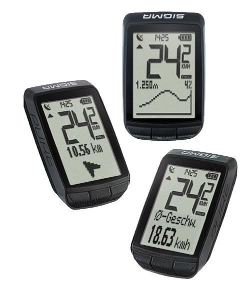 Практичный велокомпьютер Sigma Sport PURE GPS