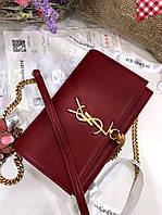 Очаровательная женская сумочка SAINT LAURENT натуральная кожа  (реплика), фото 1