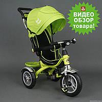 Велосипед салатовый детский трехколесный, Бест Трайк 5388, Best Trike надувные колеса