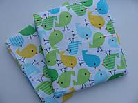 Непромокаемые пеленки Птички зеленые