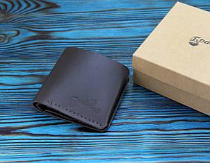 Кожаный кошелек с отделением для мелочи (281008) - шоколадный, фото 2