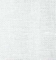 Ткань равномерного плетения Permin 32ct 065/00 White, 100% лён (Дания)