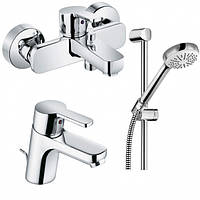 Набор смесителей для ванны 3 в 1 Kludi Logo Neo 376850575 хром