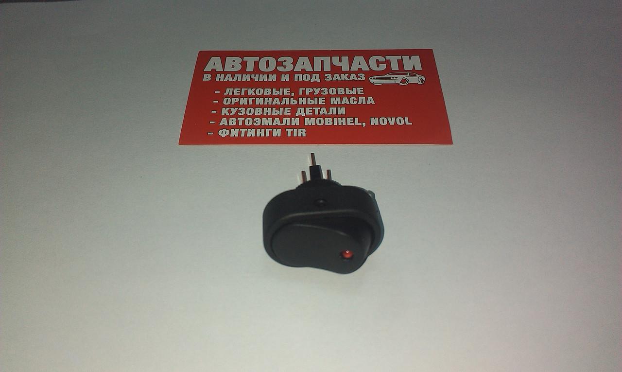Выключатель кнопочный средний с подсветкой (КС-004)