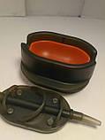 КАРПОВАЯ КОРМУШКА МЕТОД ARC Flat  50 грамм+ пластиковая пресовалка с кнопкой., фото 4
