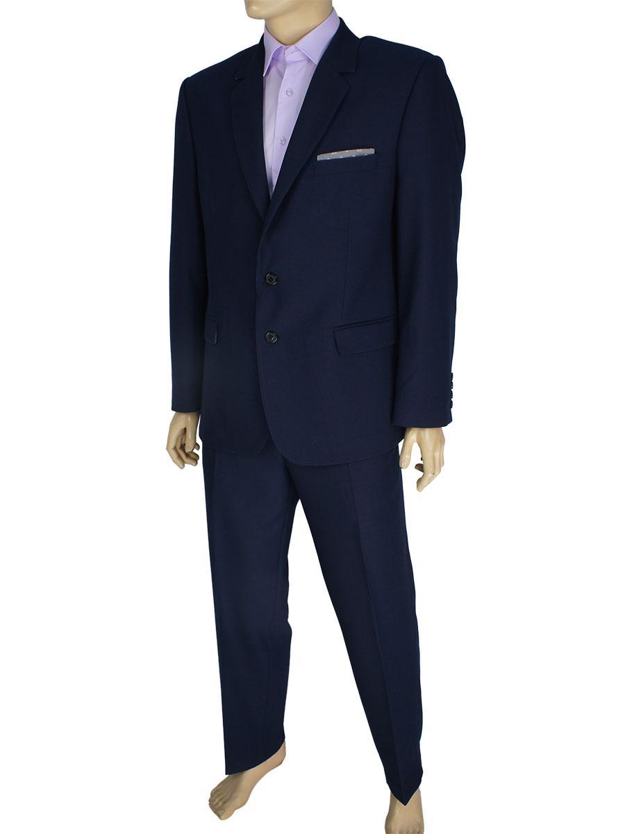 Класичний чоловічий костюм Legenda Class 418 # 3/4 темно-синього кольору