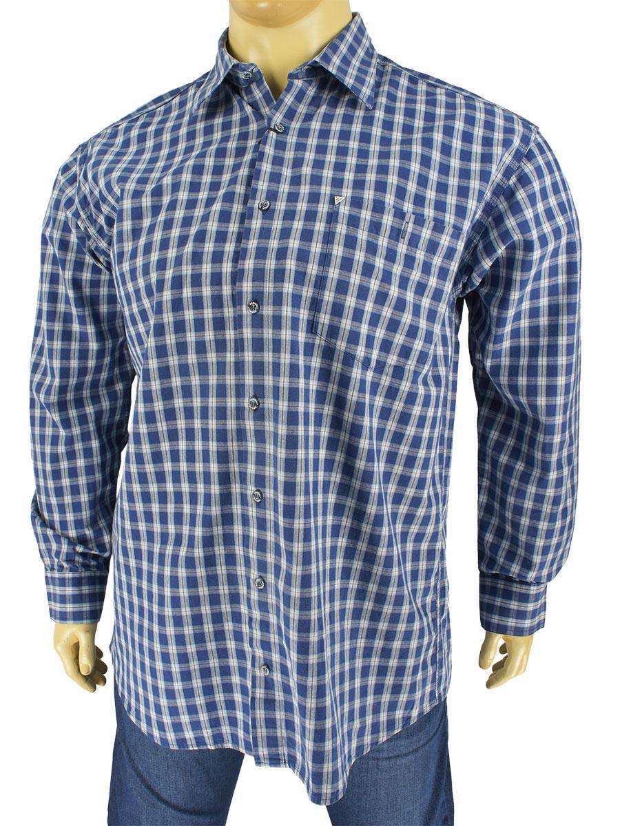 Чоловіча сорочка Desibel 0340 B indigo великих розмірів
