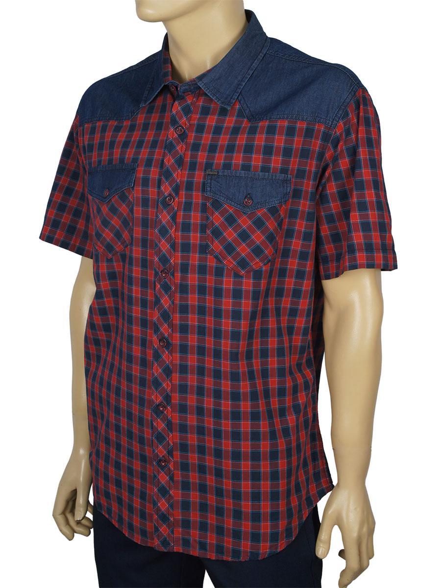 Чоловіча турецька сорочка Cordial C01442 в бордовому відтінку