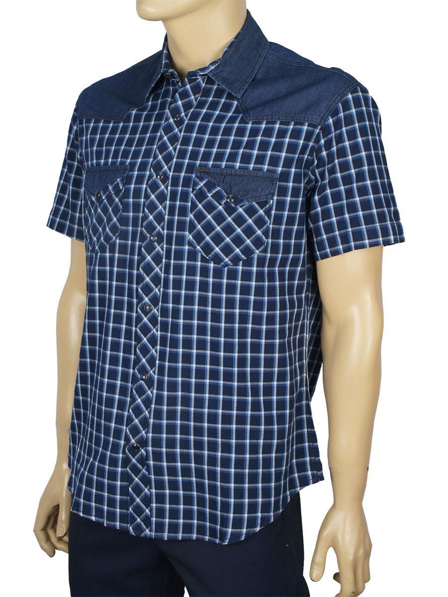 Турецька чоловіча сорочка Cordial C01841 в синьому відтінку