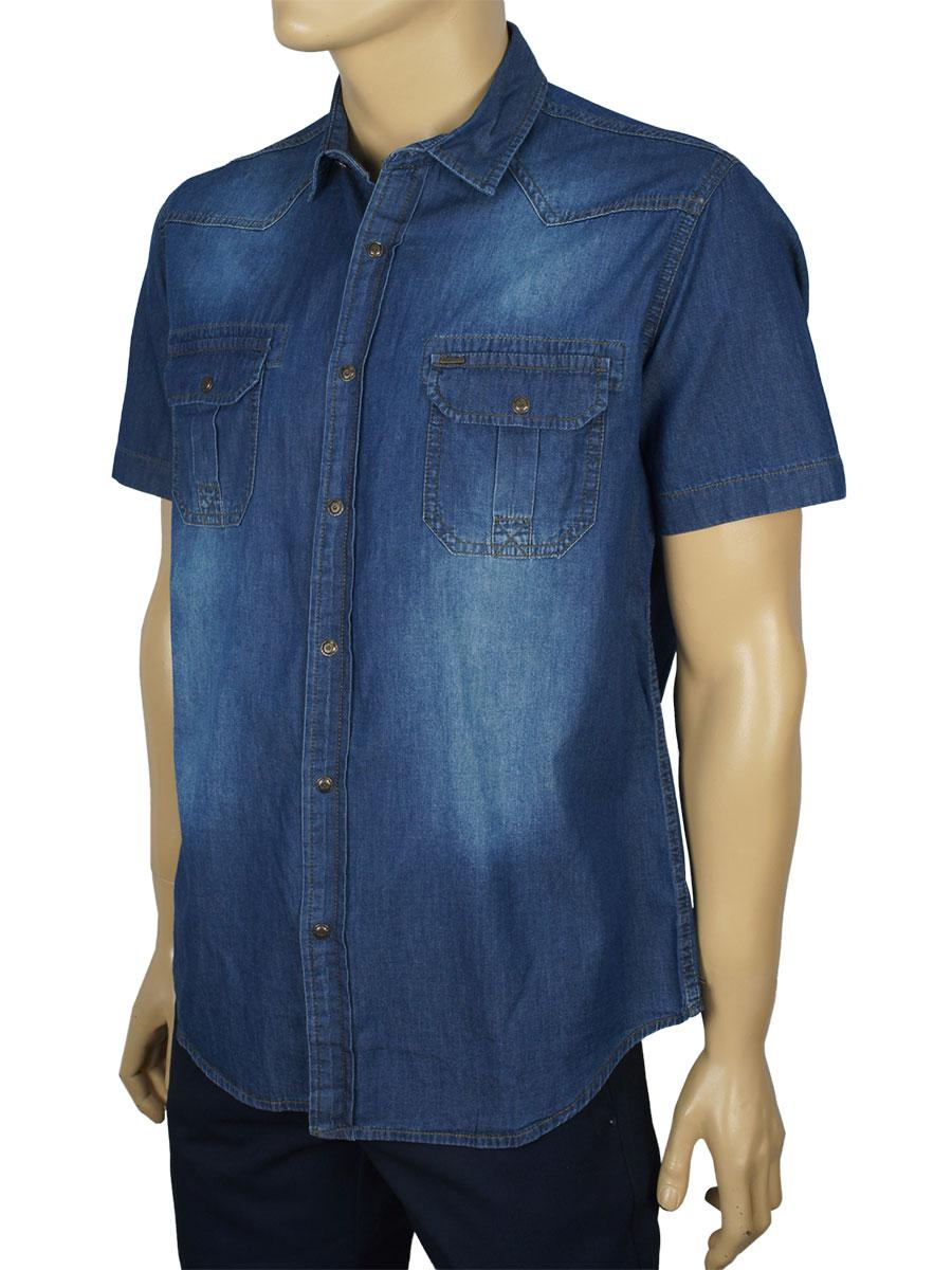 Джинсова чоловіча сорочка Cordial C01848 син.