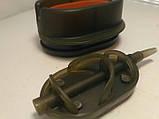 Коропова годівниця Метод Flat Arc 60 грам + пластикова пресовалка з кнопкою., фото 4