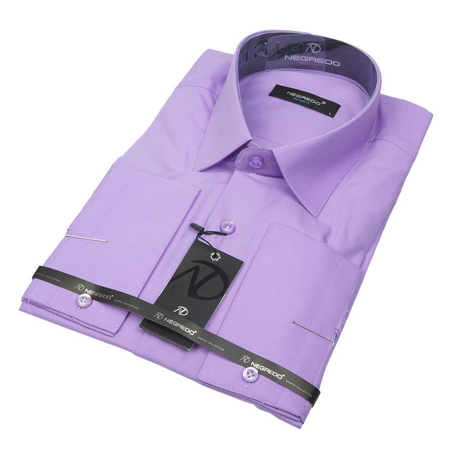 Класична світло-бузкова чоловіча сорочка Negredo 31021 Сlassic