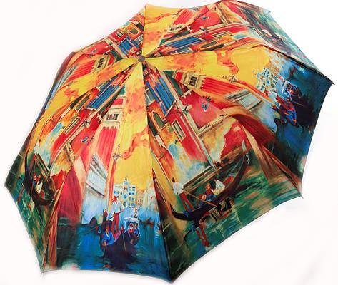 Женский, красочный полуавтоматический зонт. ZEST (ЗЕСТ) Z53624-2  Антиветер!
