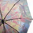 Женский, красочный полуавтоматический зонт. ZEST (ЗЕСТ) Z53624-2  Антиветер!, фото 3