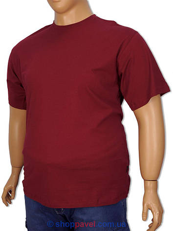 Бордова чоловіча футболка Laperon PRN-4110 B великого розміру, фото 2