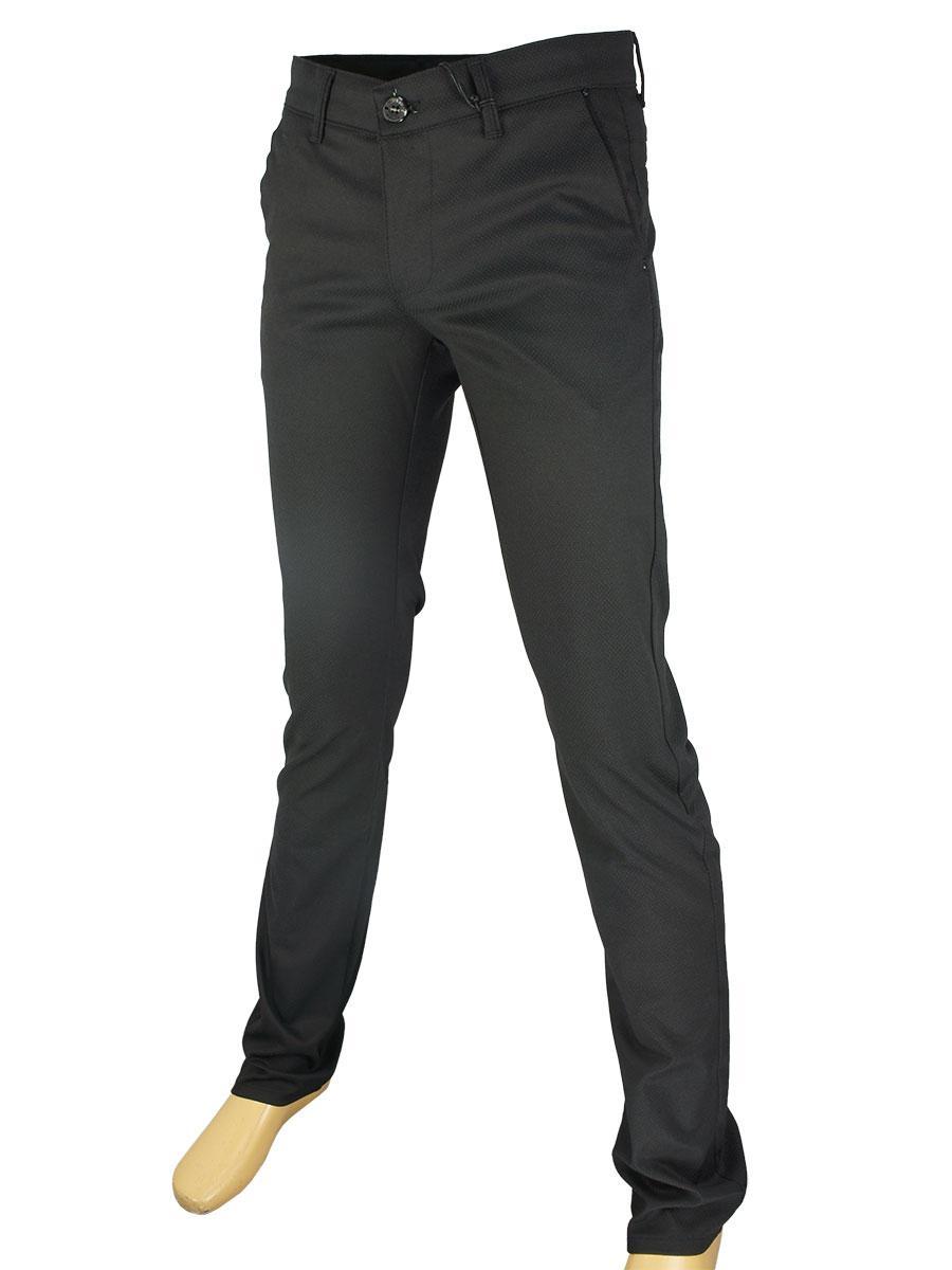 Завужені чоловічі джинси X-Foot 170-3280 C-Siyan чорного кольору