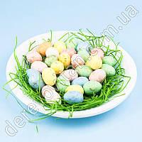 """Декор пасхальный """"Тарелка яиц"""" с эффектом позолоты №2"""