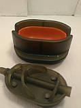 КАРПОВАЯ КОРМУШКА МЕТОД Flat Arc 70 грамм + пластиковая пресовалка с кнопкой, фото 4