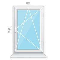 Металлопластиковое окно одностворчатое STEKO (Кривой Рог)
