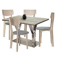 Комплект стол и 4 стула Barsky BMS-02 / Status 01/1 grey