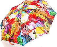 Женский  зонт полуавтомат с оригинальным рисунком ZEST (ЗЕСТ) Z53624-3 Антиветер!