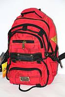 Брезентовый рюкзак красный окрас