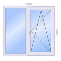 Металлопластиковое окно двустворчатое STEKO (Кривой Рог)