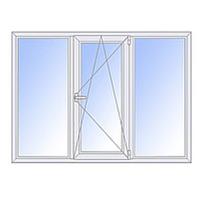 Металлопластиковое окно трехстворчатое STEKO (Кривой Рог)
