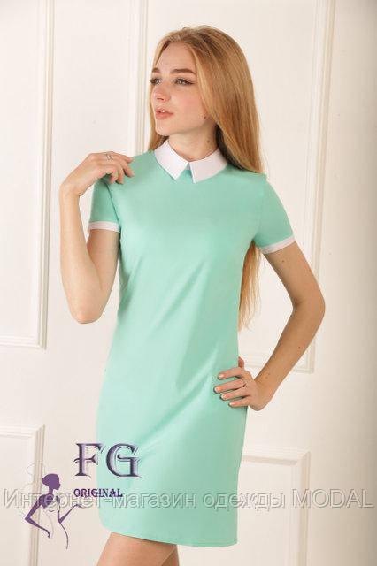 b4de72190dd Короткое платье прямого кроя - Интернет-магазин одежды MODAL в Киеве
