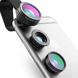 Линза для смартфона  Aukey PL-A1 3in1 Fisheye Широкоугольная Macro