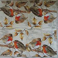 "Салфетка для декупажа ""Птички-синички"", 25х25 см, 6, фото 1"