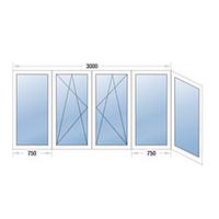 Балконная рама г-образная металлопластиковая STEKO (Кривой Рог)
