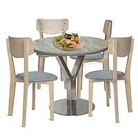 Комплект обеденный 4 стола и стул Barsky BMS-08 / Status 01/1 grey