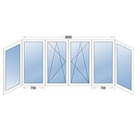 Балконная рама П-образная металлопластиковая STEKO (Кривой Рог)