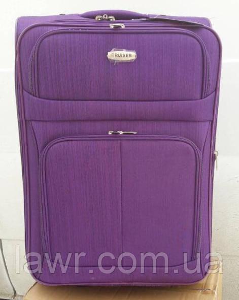 80c6b3bff4cd Чемодан дорожный CRUISER Турция полоска большой фиолетовый -  Интернет-магазин