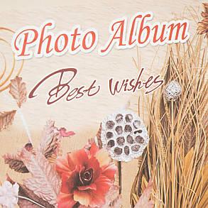 Фотоальбом на 200 фото Цветочный декор 13*18 см 0628J, фото 2