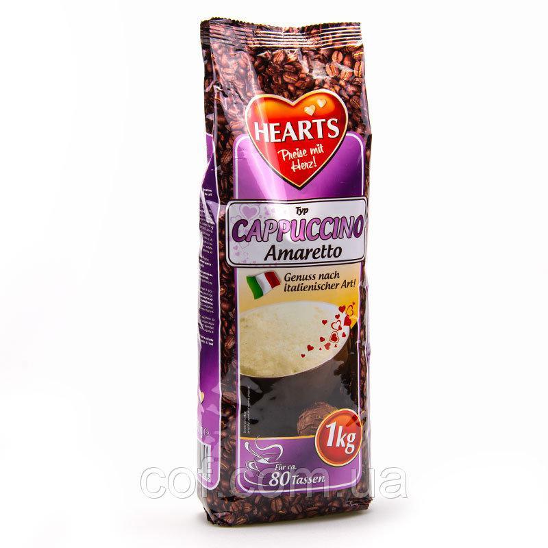 Кава капучіно амаретто розчинний Hearts Capuccino Amaretto, 1кг, Напій кавовий швидкорозчинний