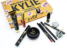 Набор косметики Кайли 11 в 1 Kylie Holiday Edition 11 Pieces Fashion Makeup Set Gold, фото 2