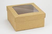 "Коробка ""Киев"" М0053-10, крафт c окном, фото 1"