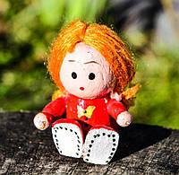 Деревянная статуэтка,девочка! Миниатюра! Германия!, фото 1