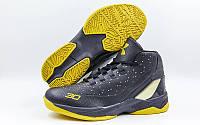 Обувь для баскетбола мужская Under Armour  (41-45) (PU, черный-желтый)