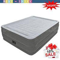 Intex 64418 (152-203-56 см.) Надувная двуспальная кровать  + встроенный электронасос 220W