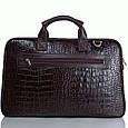 Кожаная сумка для документов и ноутбука Desisan, фото 4