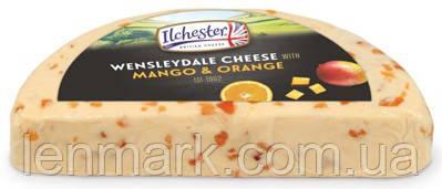 Сыр Ilchester British Cheese WENSLAYDALE mango and orange ароматизированный сыр манго-апельсин