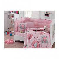 Постельное белье в кроватку Cotton Box Mini Pembe с одеялом и защитой