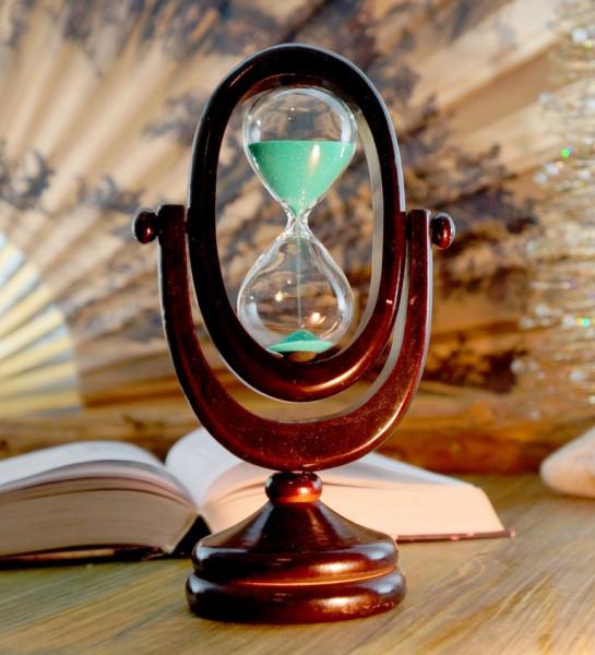 """Песочные часы """"Овал"""" в деревянном корпусе 10 минут"""